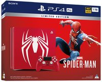 Sony PlayStation 4 Pro Console PS4 1TB Limited Edition Spider-Man Bundle