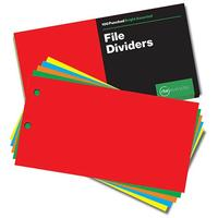 RBE - Board Dividers - Bright Assorted 100 Sheets (Box of 5)