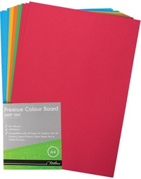 Treeline - A4 Deep Tint 160gsm Project Board - 100 sheets Multi Coloured (Box of 10) - Cover