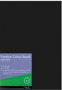 Treeline - A4 Deep Tint 160gsm Project Board - Black (Pack of 100) - Cover