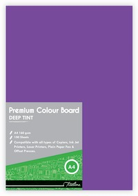 Treeline - A4 Deep Tint 160gsm Project Board - 100 Sheets Purple (Box of 10) - Cover