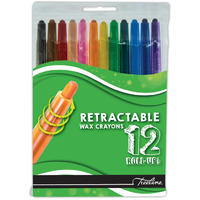 Treeline - Retractable Wax Crayons (12 Piece Set)