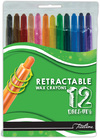 Treeline - Retractable Wax Crayons (Box of 12)