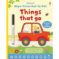 Wipe-Clean Dot-to-Dot Things That Go - Felicity Brooks (Paperback)