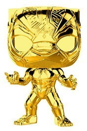 Funko Pop! Marvel - Marvel Studio's 10th Anniversary - Black Panther Gold Chrome Vinyl Figure - Cover