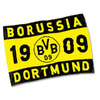 Borussia Dortmund - Club Crest Flag (With Stick)