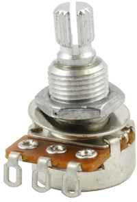 Allparts 25K Split Shaft Audio Mini Potentiometer (Nickel) - Cover