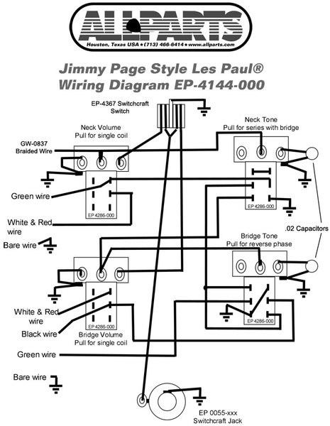 wiring a jimmy page les paul wiring diagram content Les Paul Recording