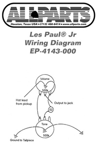 allparts electric guitar wiring kit for gibson les paul jr raru. Black Bedroom Furniture Sets. Home Design Ideas