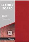 Treeline - A4 270gsm Leather Grain Board - Pack of 50 (Red)