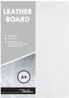 Treeline - A4 270gsm Leather Grain Board - Pack of 50 (White)