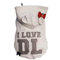 Dog's Life - I Love DL Hoodie - Grey (Small)
