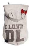 Dog's Life - I Love DL Hoodie - Grey (X-Large)