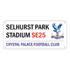Crystal Palace - Selhurst Park Stadium SE25 Street Sign