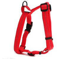 Dog's Life - Reflective Supersoft Webbing H Harness - Red Small (Shop Soiled Unit)