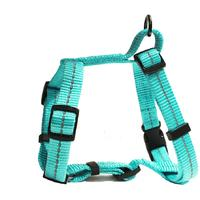 Dog's Life - Reflective Supersoft Webbing H Harness - Turquoise (Large)
