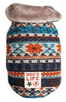 Dog's Life - Chic Vintage Wool Cape Coat  - Turquoise (XX-Small)