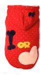 Dog's Life - Bone or Love Hoodie - Red (Large)