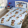 Doggies - Single Blue Duvet Set