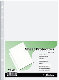 Treeline - A4 PVC Filing Pockets - 40 Micron (Pack of 100) - Cover