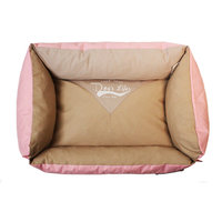 Dog's Life - Vintage Lounger Waterproof Summer Bed- Pink (Small)