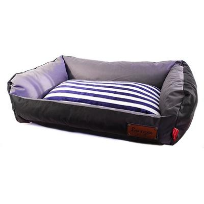 Dog's Life - Retro Lounger Waterproof Winter Bed - Black (X-Large)