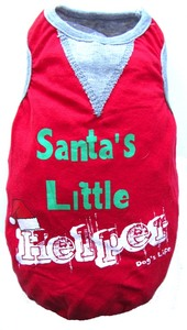 Dog's Life - Santa's Little Helper Tee - Red (X-Small) - Cover