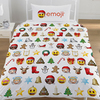 Emoji - Christmas Reversible Duvet Set (Single)