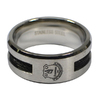 Everton - Club Crest Black Inlay Ring (Small)