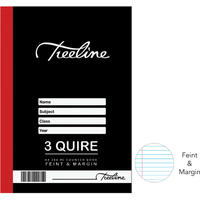 Treeline - 3 Quire A4 288 pg Hard Cover Book - Feint & Margin
