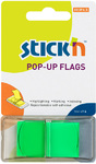 Stick'n - Pop-Up Flags 45x25mm (Neon Lime)