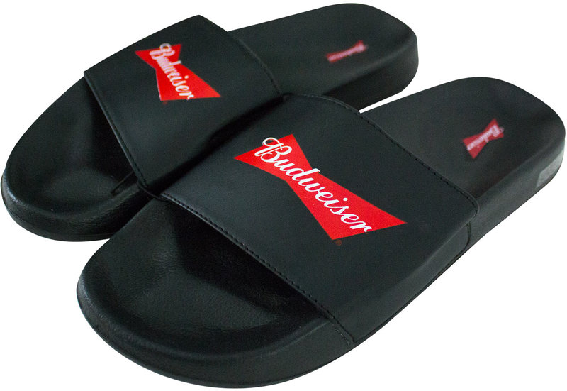 budweiser beer soccer slides men s sandals 12 merch online raru