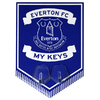 Everton - Club Crest Key Hanging Hooks Pennant