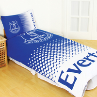 Everton - Club Crest Reversible Fade Duvet Set (Single) - Cover