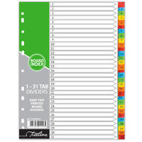 Treeline - 1 - 31 Printed  Deep Tint Assorted - A4 Board Dividers