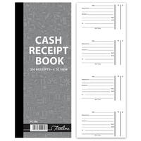 Treeline - Cash Receipt Book 4 to view in Duplicate  - Numbered