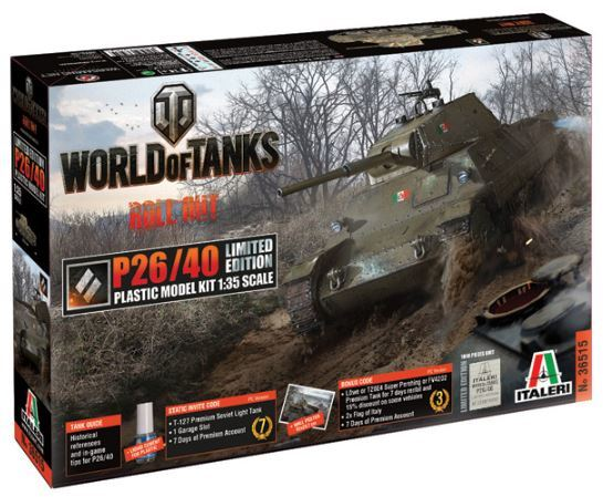 Italeri - 1/35 - World of Tanks: P26/40 Limited Edition (Plastic Model Kit)
