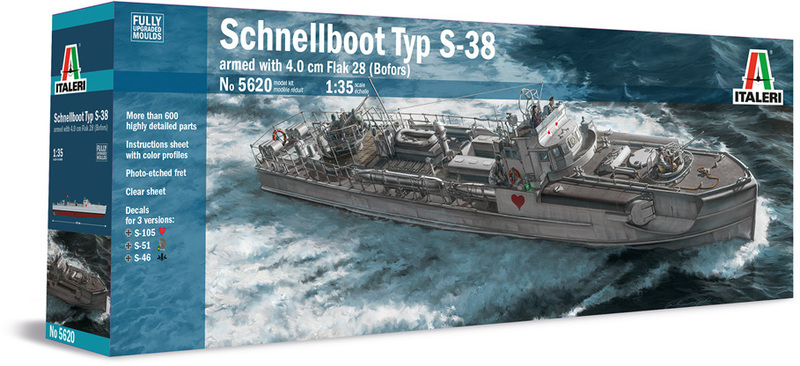 Italeri - 1/35 - Schnellboot Typ S-38 (Plastic Model Kit)