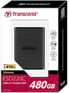 Transcend - 480GB ESD220C USB 3.1/Type-C OTG Portable Solid State Drive