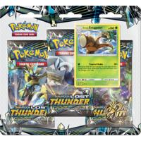 Pokémon TCG - Sun & Moon: Lost Thunder Three Booster Single Booster (Trading Card Game)