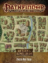 Pathfinder Campaign Setting - Return of the Runelords Poster Map Folio (Role Playing Game) - Cover
