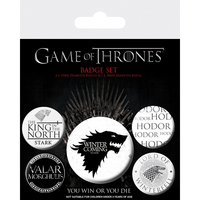 Game Of Thrones - Stark Prints (Button Badge Pack) - Cover