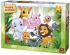 King Puzzle - Happy Animals - Jungle Animals Puzzle (12 Pieces)