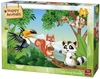 King Puzzle - Happy Animals  - Animals in Tree Puzzle (24 Pieces)