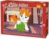 King Puzzle - Little Kittens & Dogs - Kitten with Wool Puzzle (24 Pieces)