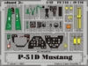 Eduard - Photoetch (Zoom) 1/48 - P-51d Mustang (Tamiya) (Plastic Model Kit Add-On)