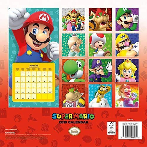 Image result for NINTENDO OFFICIAL MARIO CALENDAR 2019
