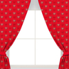 Arsenal F.C. - Repeat Crest Curtains - 72 inch