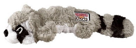 e58ef563a157 KONG - Scrunch Knots Grey Raccoon Plush Toy (Medium/Large) - Cover