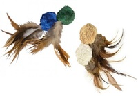 KONG - Natural Crinkle Ball Plush Toy with Feathers - Cover